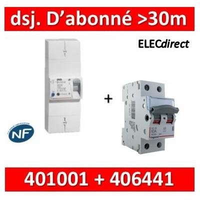 Legrand - Lot pour Disj. d'abonné >30m du tableau électrique - 63A - 406441+401001