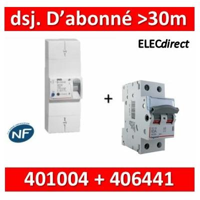 Legrand - Lot pour Disj. d'abonné >30m du tableau électrique - 63A - 406441+401004