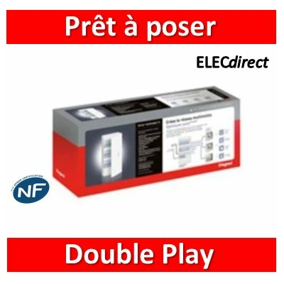 Legrand - VDI coffret prêt à poser multimédia double play drivia 13 Modules - 413239
