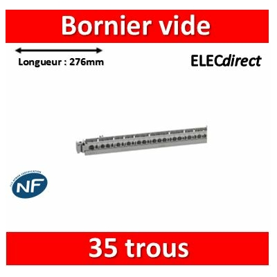 Legrand - Support de borniers - vide - 35 trous - L. 276 mm - 004817