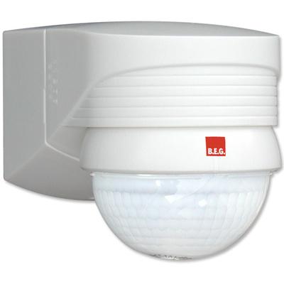 B.E.G - Détecteur de mouvement avec zone de détection 280° - 360° - Mural - Blanc - 91008