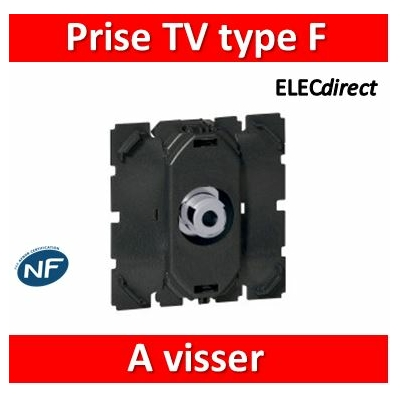 Legrand - Prise TV Céliane - simple - type ''F'' 0-2 400 MHz - à visser - 067380