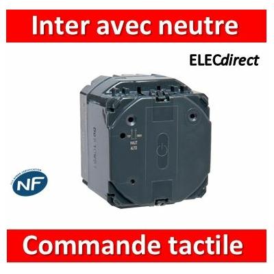 Legrand - Commande tactile avec neutre Céliane - 1000 W - 067042