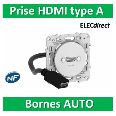 Schneider Odace - Blanc Prise HDMI Type A - s520462