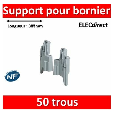 Legrand - Support de fixation pour borniers - vide - 50 trous - 385 mm - 001973