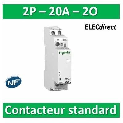 Schneider - Contacteur standard Bipolaire - 2O - 20A - 16738