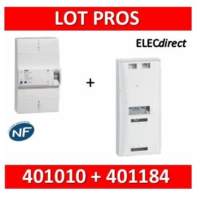 Legrand - Disjoncteur de branchement EDF 10/30A instantané + platine disjoncteur tripolaire - 401010+401184