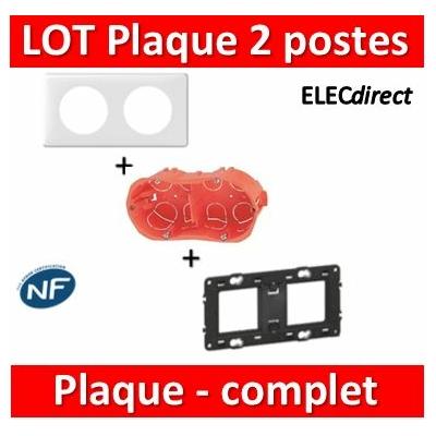 Legrand Céliane - LOT - Plaque 2 postes SIB - hori./Vert - 066632+080252+12971