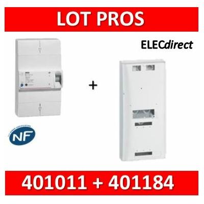 Legrand - Disjoncteur de branchement EDF 30/60A instantané + platine disjoncteur tripolaire - 401011+401184