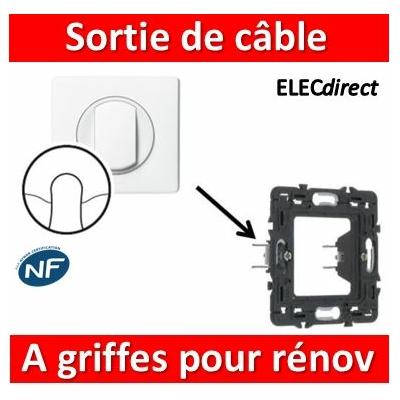 Legrand Céliane - Sortie de câble complet blanc 1 poste à griffes pour rénovation