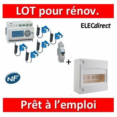 Legrand - ECOcompteur + DPN + Tableau 8M - 412002x5+412000+406771+001308