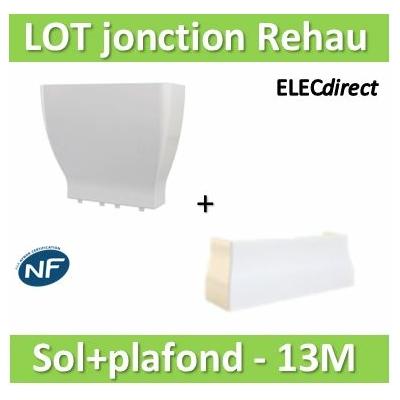 Rehau - Cofralis jonction Goulotte/sol + Goulotte/plafond pour goulotte GTL 13 modules - 243464+243454