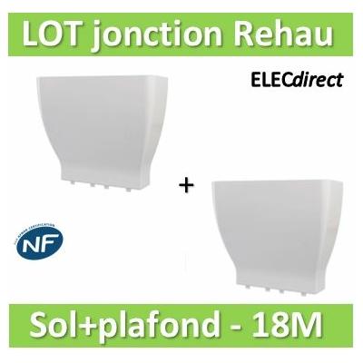 Rehau - Cofralis jonction Goulotte/Sol + Goulotte/plafond pour  GTL 18 modules - 343001x2