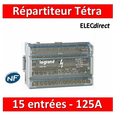 Legrand - Répartiteur 15 connexions - 8 modules - 125A - 004888
