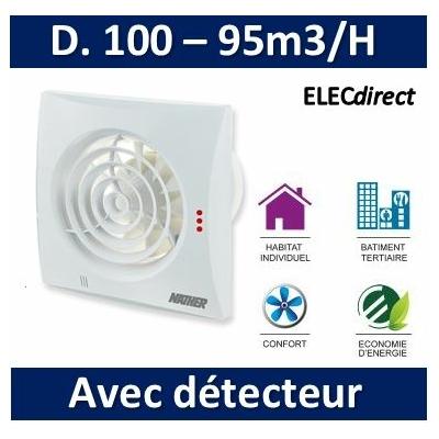 Nather - Aérateur + détection de présence + minuterie D. 100 mm - 549061