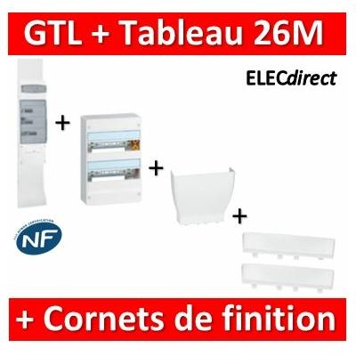 Legrand - Kit GTL 13M complet + tableau 26M + Cornet d'epanouissement + cornet de finition