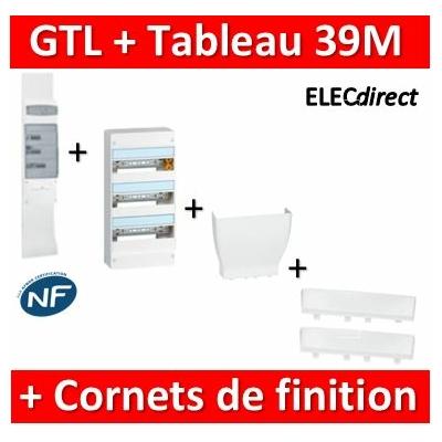 Legrand - Kit GTL 13M complet + tableau 39M + Cornet d'epanouissement + cornet de finition