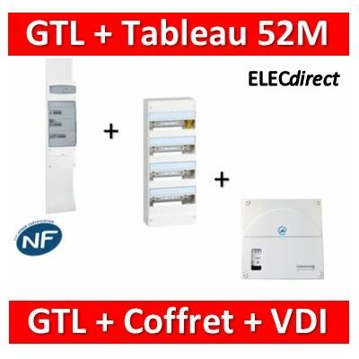 Legrand - Kit GTL 13M complet + tableau 52M + VDI 4RJ45 casanova - 030037+401214+TRIEGT14X