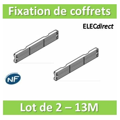 Rehau - Cofralis Fixation de coffrets 13 modules 250 mm - Lot de 2 - 246714