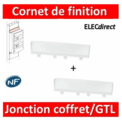 Legrand - Cornet de finition - 2 jonctions coffrets Drivia 13M/GTL  - 030094x2