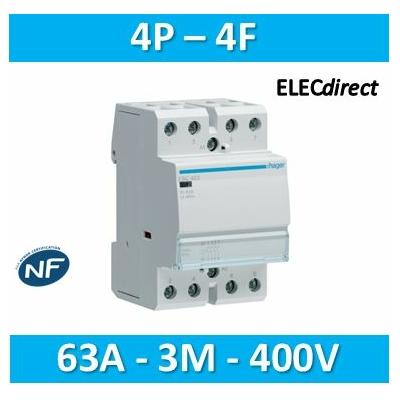 Hager - Contacteur 63A, 4F, 230V - ESC463