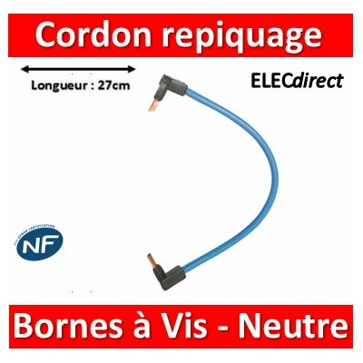 Legrand - Cordon de repiquage Neutre pour bornes à vis - 10mm2 - 404907