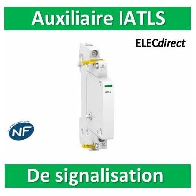 Schneider - Auxiliaire de signalisation 24...240VCA pour Télérupteur ITL - Acti9 IATLS - A9C15405