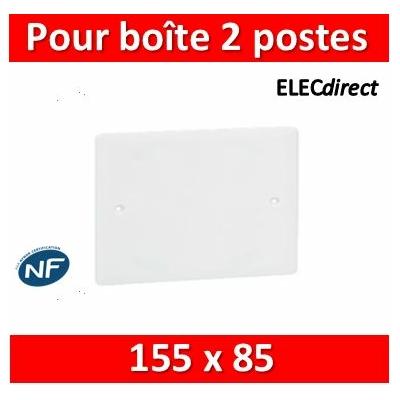 Legrand Batibox - Couvercle universel 155 x 85 - pour boîte 2 postes - 080182