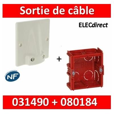 Legrand - Sortie de câble  32A - fixation VIS + boîte 32A - complet - 031490+080184