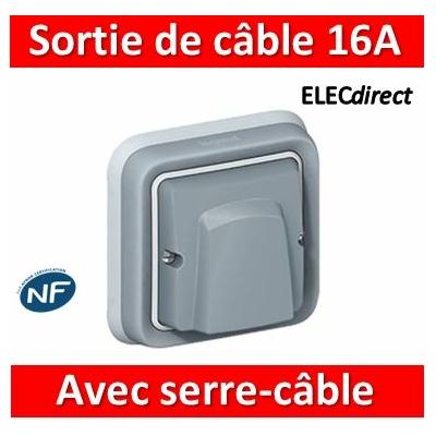 Legrand Plexo - Sortie de câble encastré - 16A - 230V - IP55/IK08 - 069848