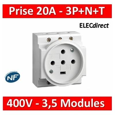 Legrand - PC 3P+N+T - 20A 400V  à  Eclips Modulaire - 004292
