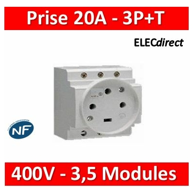 Legrand - PC 3P+T - 20A 400V  à  Eclips Modulaire - 004291
