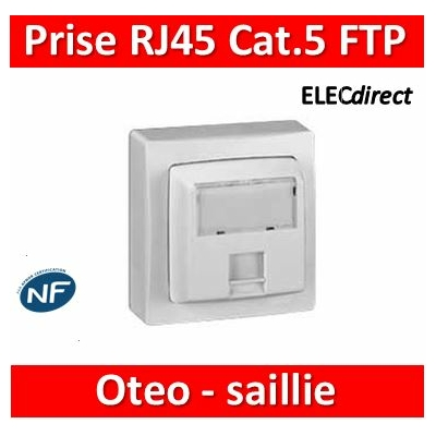Legrand Oteo - Prise Cat.5 FTP 9 contacts - blanc - 086061