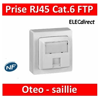 Legrand Oteo - Prise RJ45 Cat.6 FTP 9 contacts - blanc - 086047