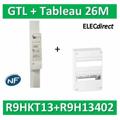 Schneider - Pack goulotte GTL 13M + Tableau RESI9 26M - R9HKT13+R9H13402