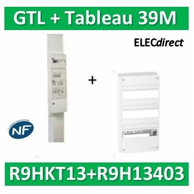 Schneider - Pack goulotte GTL 13M + Tableau RESI9 39M - R9HKT13+R9H13403