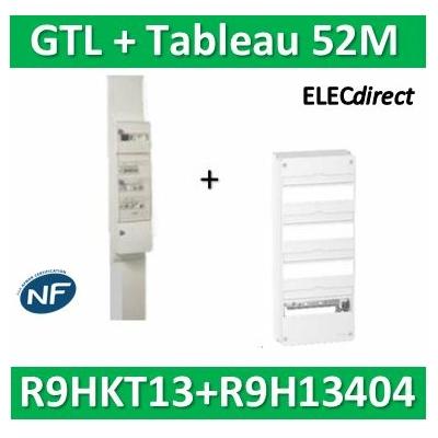 Schneider - Pack goulotte GTL 13M + Tableau RESI9 52M - R9HKT13+R9H13404