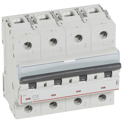 Legrand - Disjoncteur dx - 4,5 ka - 1000 v= - 10 a - 6 modules - 414446