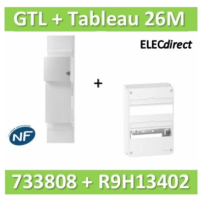Rehau - Kit Cofralis - GTL 13M - 2600 x 60 x 250 mm complet + tableau RESI9 26M - 733808+R9H13402