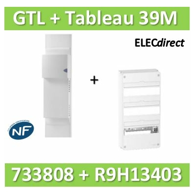 Rehau - Kit Cofralis - GTL 13M - 2600 x 60 x 250 mm complet + tableau RESI9 39M - 733808+R9H13403