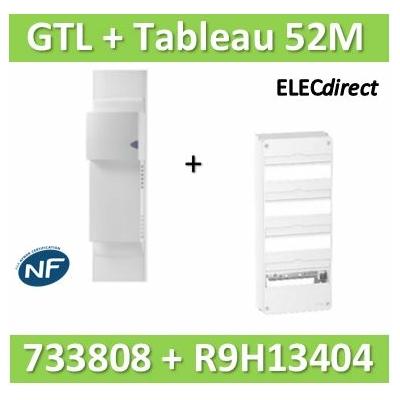 Rehau - Kit Cofralis - GTL 13M - 2600 x 60 x 250 mm complet + tableau RESI9 52M - 733808+R9H13404