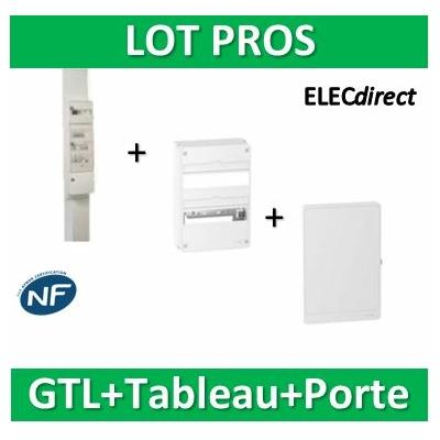 Schneider - Pack GTL 13M + Tableau RESI9 26M + Porte - R9HKT13+R9H13402+R9H13422