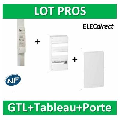 Schneider - Pack GTL 13M + Tableau RESI9 39M + Porte - R9HKT13+R9H13403+R9H13423