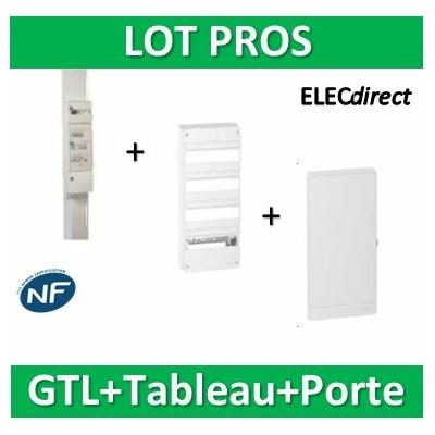 Schneider - Pack GTL 13M + Tableau RESI9 52M + porte - R9HKT13+R9H13404+R9H13424
