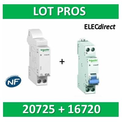 Schneider - Connecteur R'clic - XE + DPN 10A XP - 16720+20725