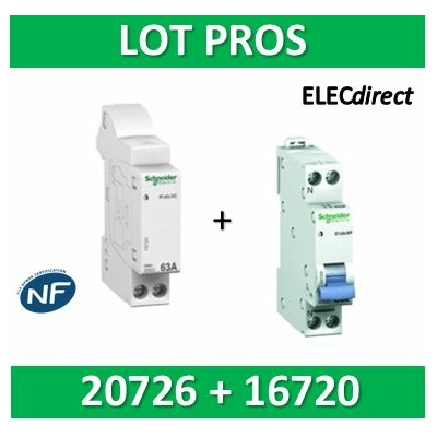 Schneider - Connecteur R'clic - XE + DPN 16A XP - 16720+20726