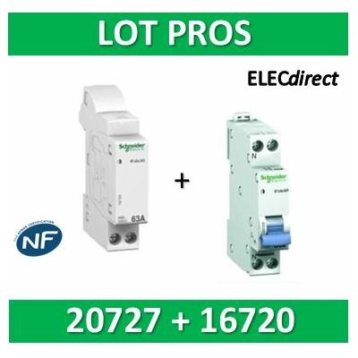 Schneider - Connecteur R'clic - XE + DPN 20A XP - 16720+20727
