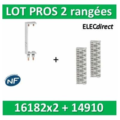 Schneider - LOT PROS - Peignes Vert. + Hor. XE 13M pour tableaux 2 rangées - 16182x2+14910