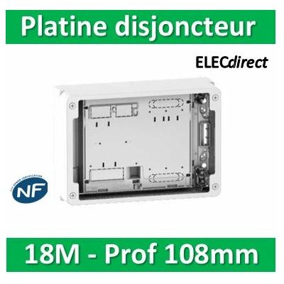 Schneider - Platine + habillage pour Disjoncteur branchement Seul - Mono / TRI - 18M - prof. 108  - R9H18206