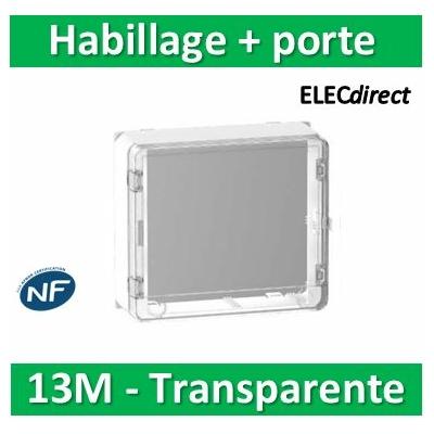 Schneider - Habillage + porte transparente pour R9H13206 et R9H13416 - 13M - R9H13419